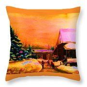 Playing Until The Sun Sets Throw Pillow