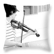 Playing Violin Throw Pillow