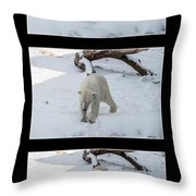 Playing With Snow Throw Pillow