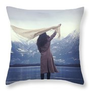Playing With Wind Throw Pillow
