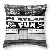 Playland At The Beach Throw Pillow