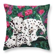 Play'n In The Posies Throw Pillow