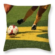 Plays On The Ball Throw Pillow