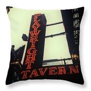 Playwright Tavern Throw Pillow