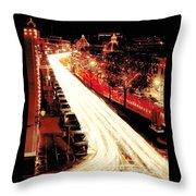Plaza Christmas - Kansas City Throw Pillow
