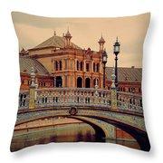 Plaza De Espana 10. Seville Throw Pillow by Jenny Rainbow