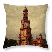 Plaza De Espana 2. Seville Throw Pillow by Jenny Rainbow