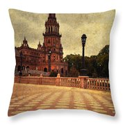 Plaza De Espana 8. Seville Throw Pillow
