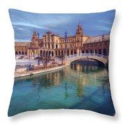 Plaza De Espana Seville II Throw Pillow