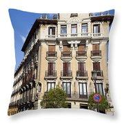 Plaza De Ramales Tenement House Throw Pillow