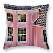 Beautiful Pink Turret - Boardwalk Plaza Hotel Annex - Rehoboth Beach Delaware Throw Pillow