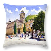 Plaza Nueva Throw Pillow