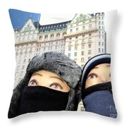 Plaza Peering Throw Pillow