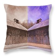 Pleasant View Country Barns Throw Pillow