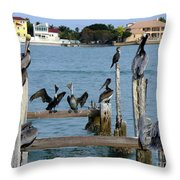 Please Behave No Fighting With Your Neighbors Throw Pillow