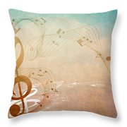 Please Dont Stop The Music Throw Pillow by Angelina Vick