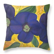 Please Me Purple Passion Throw Pillow