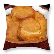 Please Pass The Biscuits Throw Pillow