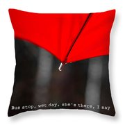 Please Share My Umbrella Throw Pillow