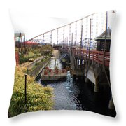 Pleasure Beach Roller Coaster Throw Pillow