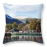 Pleasure Cruiser On Ullswater Throw Pillow