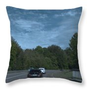 Pleasure Drive Paris Roads Tree Line And Wonderful Skyview Throw Pillow