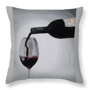 Pleasure In A Glass Throw Pillow
