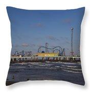 Pleasure Pier At Sunset Throw Pillow