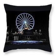 Pleasure Pier Ferris Wheel Throw Pillow