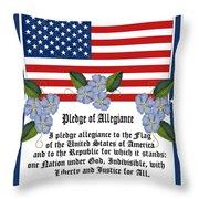 Pledge Of Allegiance Throw Pillow by Anne Norskog
