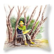 Plein Air Artist At Work Throw Pillow by Irina Sztukowski