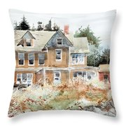 Plein Air At Southport Throw Pillow