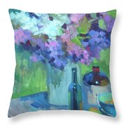 Plein Air Lilacs Throw Pillow
