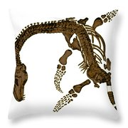 Pleisiosaurus, Mesozic Marine Reptile Throw Pillow