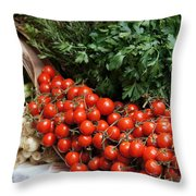 Plentiful Red Throw Pillow
