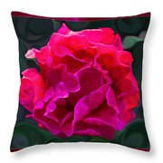 Plentiful Supplies Of Pink Peony Petals Abstract Throw Pillow