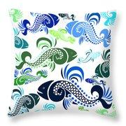 Plenty Of Fish In The Sea 4 Throw Pillow