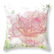 Plenty Of Joy And Sun. Natural Watercolor. Touch Of Japanese Style Throw Pillow
