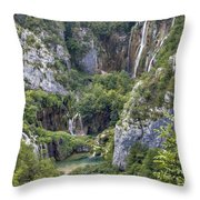 Plitvice Lakes - Croatia Throw Pillow