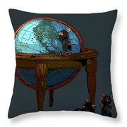 Plotting To Conquer The World... Throw Pillow