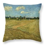 Ploughed Fields - The Furrows Throw Pillow
