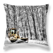 Plowin Snow Throw Pillow