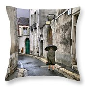 Pluie A Chartres - 1 Throw Pillow