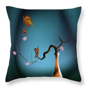 Plum 1 Throw Pillow