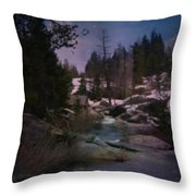 Plumas River In Sierras Throw Pillow
