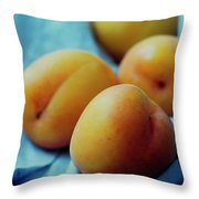 Plumcots Throw Pillow