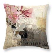 Plumeria - 064073079m3 Throw Pillow