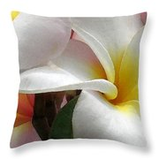Plumeria Dance Throw Pillow