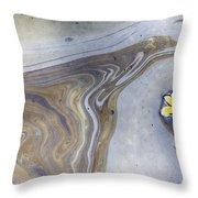 Plumeria In Oil Slick- Uss Arizona Memorial Shipwreck Site Throw Pillow