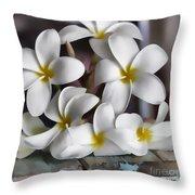 Plumeria The Pretender Throw Pillow